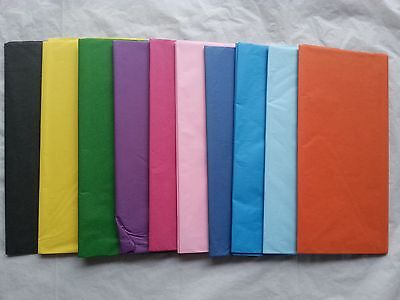 Tissue Paper Coloured Sheets Gift Wrap Baby Wedding 500x700mm 5 Sheets