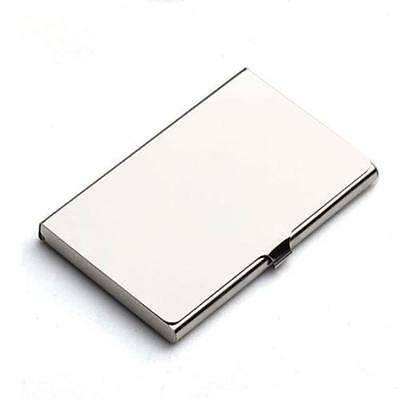 Stainless Steel Pocket Business Name Credit ID Card Holder Metal Box Cover case