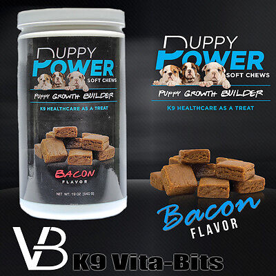 K9 Vita-Puppy Soft Chews Growth Builder Puppy Supplements and Vitamins 30 days