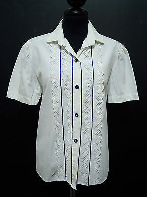 CULT VINTAGE '60 Camicia Donna Cotone Cotton Woman Shirt Sz.M - 44