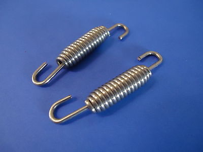 2x Stainless Steel Exhaust Springs 40mm / Expansion Chambers Manifold Link pipe