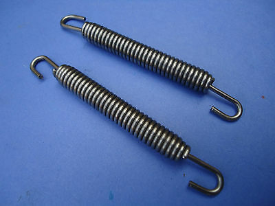 Pair Of Stainless Steel Exhaust Springs 80mm / Expansion Chambers  ypvs