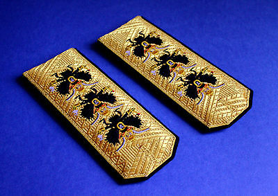 Shoulder Straps Full Admiral of Imperial Russian Navy Insignia Repro Copy