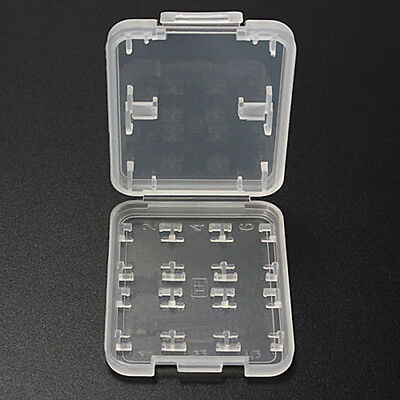 8 in 1 Micro SD SDHC TF MS Memory Card Storage Box Protector Holder Hard Case 1X