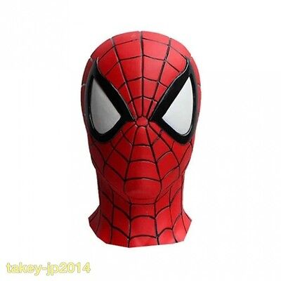 New Spiderman Spider Man Full Face  Rubber Mask From Japan Free Shipping