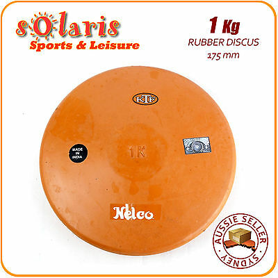 1Kg NELCO Rubber Compound Discus School Athletics Training Throw Implement