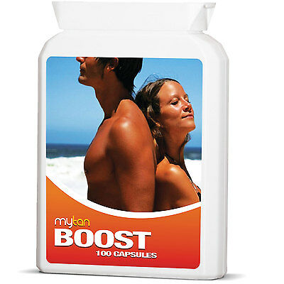 MyTan Boost Tanning Pills 100 Capsules Safe Sun Tan Tablets Worldwide Bestseller