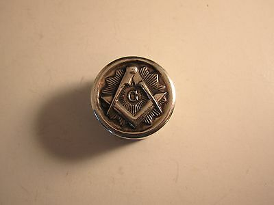 Sterling Silver Masonic Pill Box