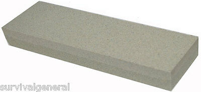 "8"" Aluminium Oxide Sharpening Stone Duel 120 240 Grit Knife Sharpener Whetstone"