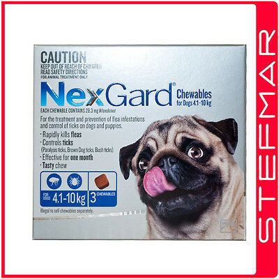 NexGard Chews for Small Dogs 4-10kg 3Pack Chewables