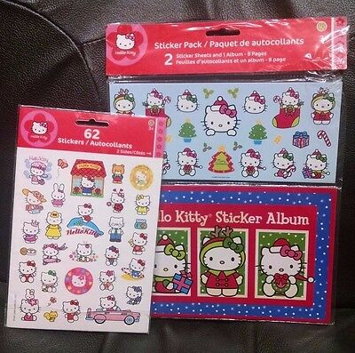 Hello Kitty Stickers, Variety THREE PACKS