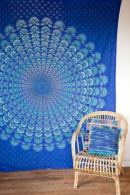 Hippie Mandala Tapestry Queen Bedspread Indian Wall Hanging Throw Boho Dorm Art