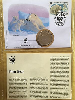WWF 30 Years Proof Medallion First Day Cover Limit Edition Polar Bear