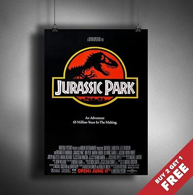 JURASSIC PARK SERIES 1 MOVIE POSTER 1993 * A3 A4 * Classic Vintage Film Print