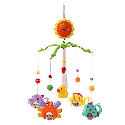 Rattle Baby Crib Bell Mobile Wind-up Music Box Cute Bed Toy Cartoon Gift Nursery