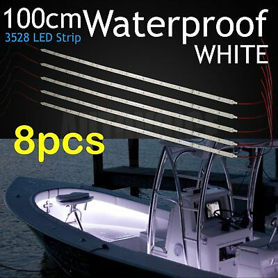 2 X 100CM Boat LED White Light Strip Caravan Bar Camping Waterproof  Decoration