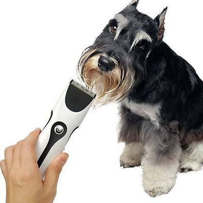 New Pet Cat, Dog Hair Grooming Trimmer Shaver Clipper Razor Kit Rechargeable