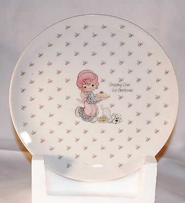 Precious Moments Plate 1987 Dropping Over For Christmas