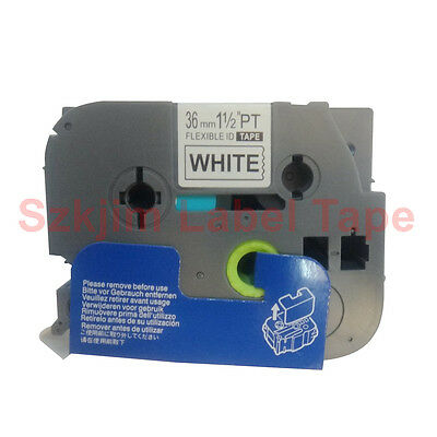 TZ-FX261 Flexible Black on White 36mm 8M Compatible to Brother TZe-FX261 Label