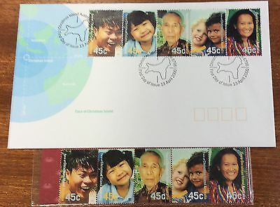 2000 face of Christmas Island  first day cover and stamp  Pack (MUH)
