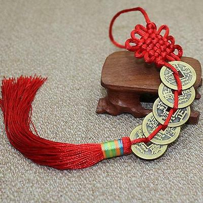 Feng Shui Chinese Coins Coin for good Luck PROSPERITY PROTECTION Charm Tassel T