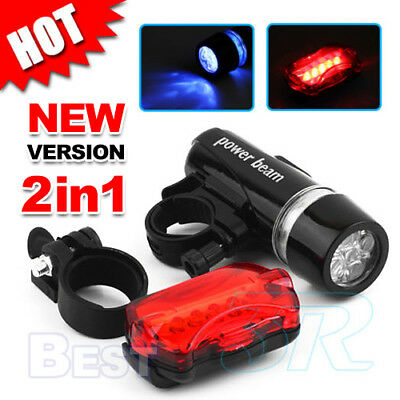LED Bike Bicycle Set Rear Tail Flashlight Torch Front Head Light headlight Lamp