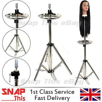 Adjustable Tripod Stand Hairdressing Training Manikin Mannequin Head Holder