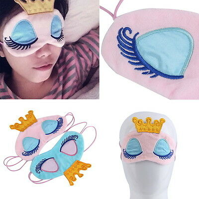 Princess Crown Fantasy Eyes Cover Travel Sleeping  Blindfold Shade Eye Mask OE