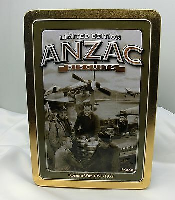 ANZAC limited edition biscuit tin Korean War 1950-1953 With paper VGUC from 2010