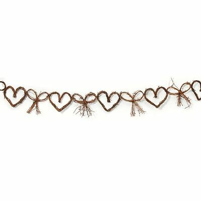 Bow And Heart Garland Vine Wedding Decoration Hanging Bunting Vintage Party