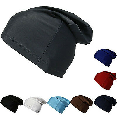 Beanie Dome Cap Slouch Spandex Liner Sports Biker FootBall Beanie Hat Headwrap
