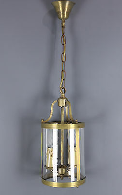 Vintage French Chandelier Lantern Style with glass 2 light