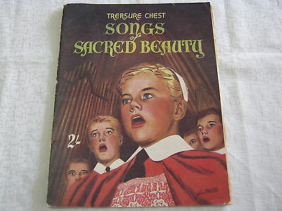 Vintage Sheet Music -Treasure Chest Songs Of Sacred Beauty