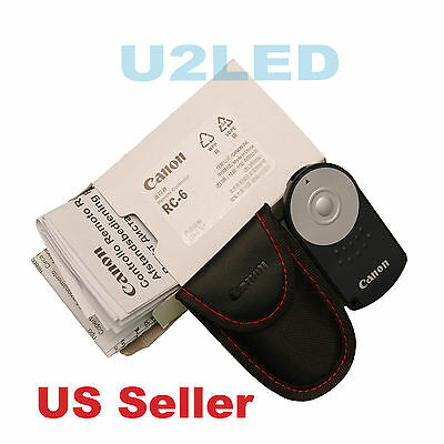 Canon RC-6 RC6 IR Wireless Remote Control M EOS 5D Mark IV 760D 5DS R Rebel T6i