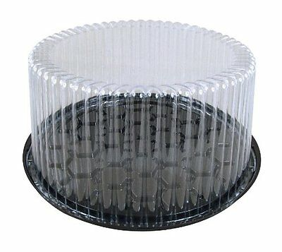 """5pcs Cake Tray, Carrier, Server Display Container Plastic Clear  10"""" White board"""