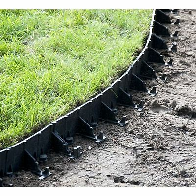Flexible Garden Lawn Grass Edge Edging Border 45-78mm Height 1m Length + 5 Pegs