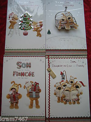 Boofle Son & Daughter-in-Law, Son & Girlfriend, Son & Fiancee Christmas Cards