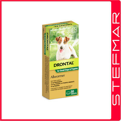 Bayer Bay-O-Pet Drontal Allwormer for Dogs and Puppies 3kg Tablet 50Pack