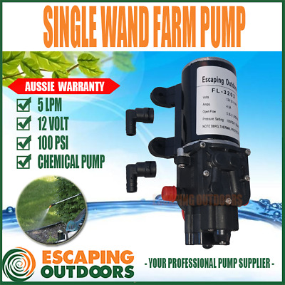 Escaping Outdoors FL3203 Single Wand Farm Chemical Spray Pump 100psi 5 L/pm 12v