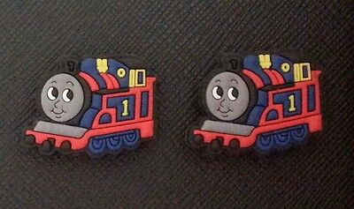 2 x Thomas Tank Engine SHOE CHARMS FOR CROCS AND JIBBITZ WRISTBANDS