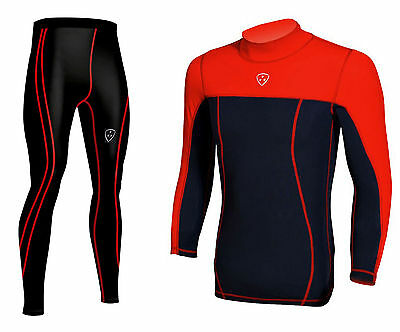Mens Compression Armour Base layer Top & legging running Tights Pants Skin Fit