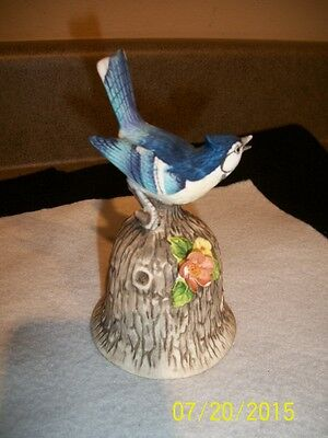 "Vintage Towle Fine Bone China Blue Bird Bell 5"" high x 3"" wide"