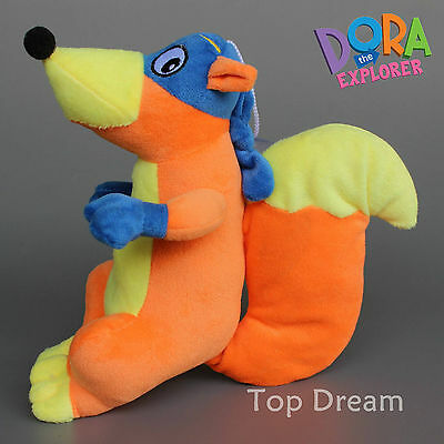 New Dora The Explorer Swiper The Fox Soft Plush Doll Stuffed Toy 9'' Kids Gift