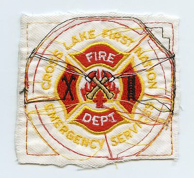 Cross Lake Native Fire Department, Manitoba, Canada RARE Shoulder Patch Proof