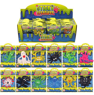 48 Sticky Creatures - Party Bags - Fun Unisex Toys