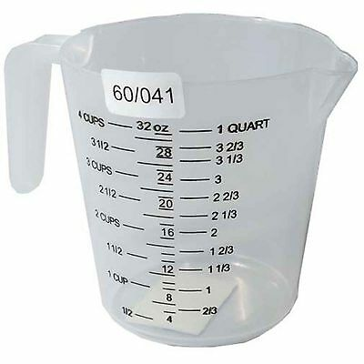 Measuring Jug 1 Litre 1L Plastic Kitchen Oz Pint Quartz Cups Fl Measurements