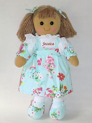 Personalised Rag Doll Bridesmaid Flower Girl Birthday Christening New Baby Gift