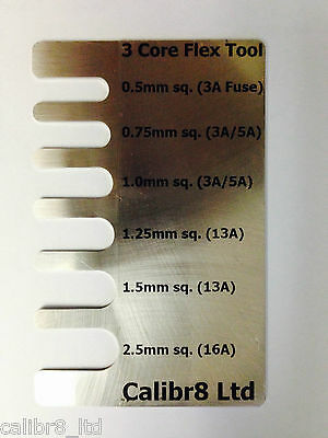 PAT Testing Aid, Flex Sizing Tool, Stainless Steel, Creditcard Size
