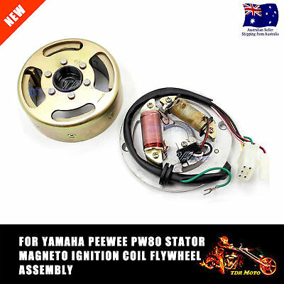 Yamaha PW80 Stator Magneto Ignition Coil  Flywheel Assembly PY 80  PeeWee 80