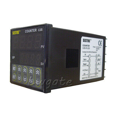 C2S-R-24 12-24V Digitals DIN Digital Counter Tact Switch OMRON Relay Output
